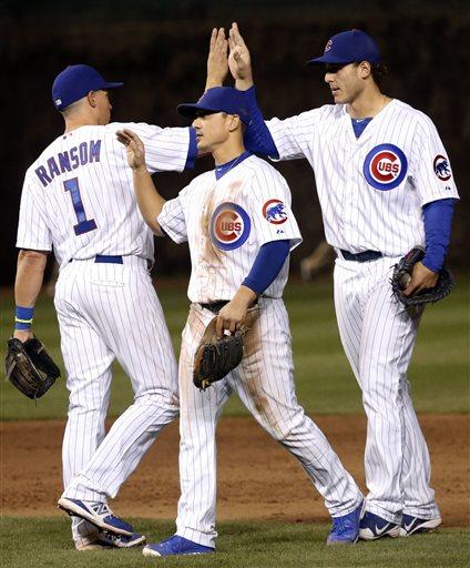 Cody Ransom, Darwin Barney, Anthony Rizzo