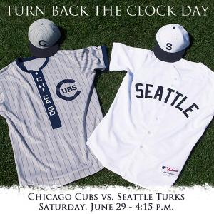 The Cubs and Mariners retro jerseys circa 1909