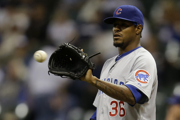Edwin+Jackson+Chicago+Cubs+v+Milwaukee+Brewers+bAcBoJ2Ac5Hl