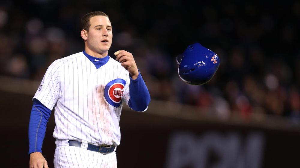 Anthony Rizzo Tosses helmet