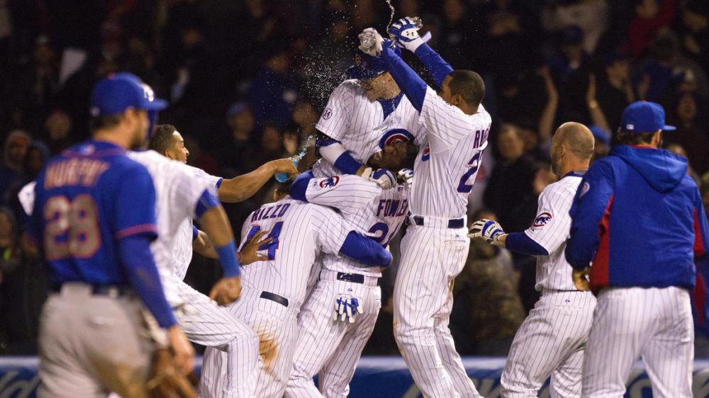 Walk Off Win Chicago Cubs